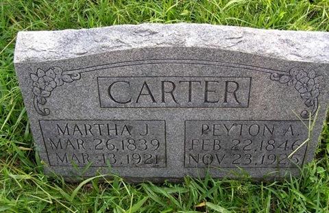 Carter,Martha J & Peyton A