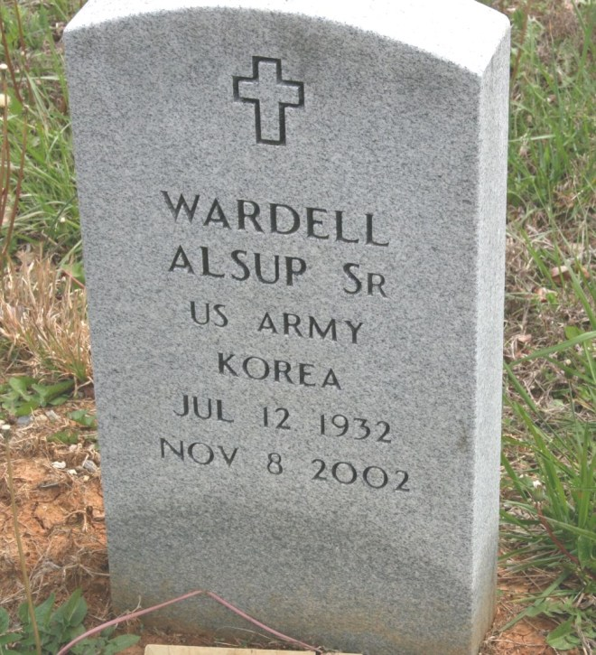 alsup,wardell sr military