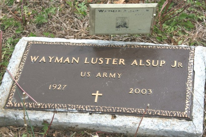 alsup,wayman luster jr military