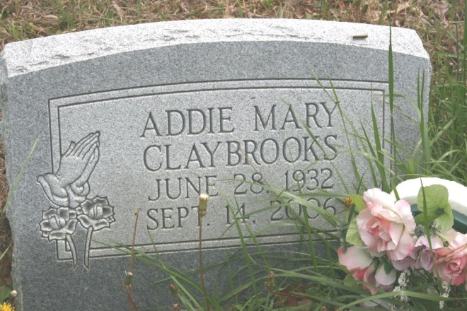 claybrooks,addie mary