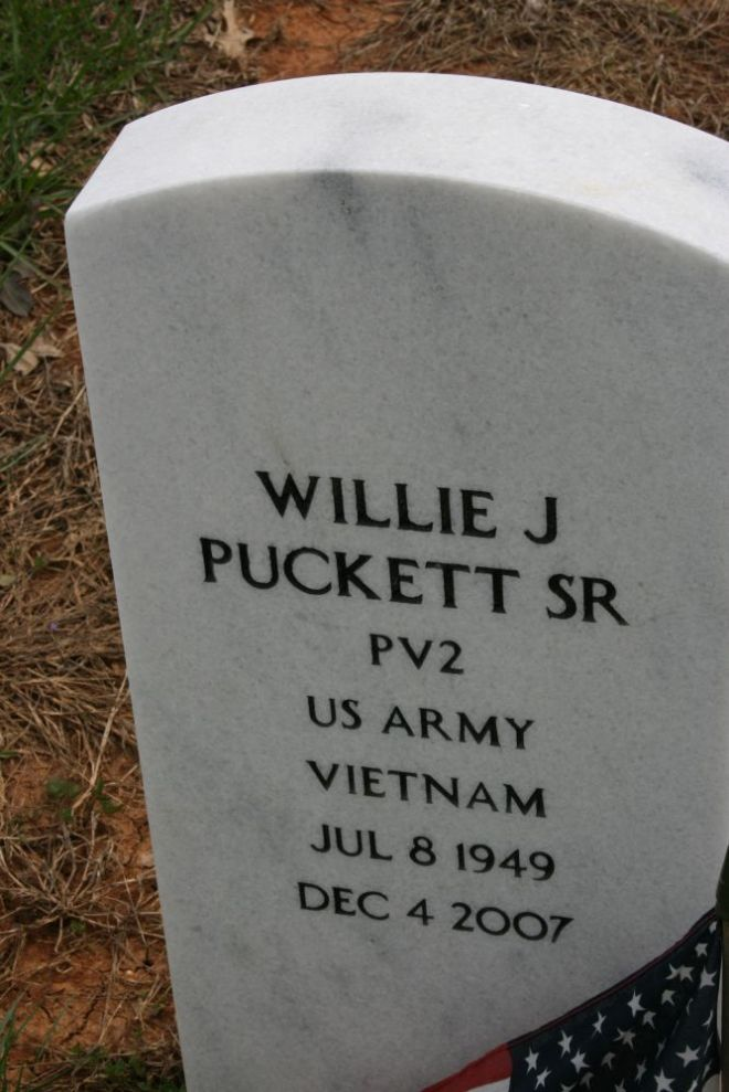 puckett,willie j sr